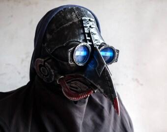 Plague Doctor Mask Halloween Costume Cosplay LED Steam Punk Cyberpunk light up face masks Bird Prop Dr. Dr