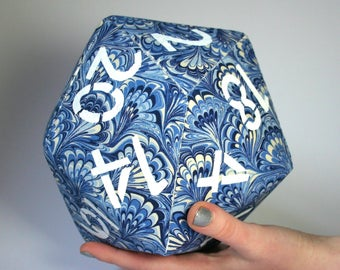"GIANT d20 foam dice for D&D TTRPGs 8""/20cm"