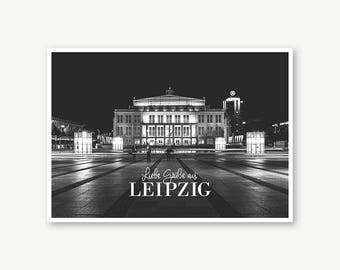 "Postcard ""Opera Leipzig"". DIN A6"