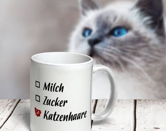 """Mug """"Cat Hair""""   Available in 7 colors"""