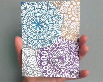 Mandala Card Metallic