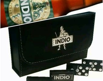 Cerveza Indio Beer Dominoes Game Set Double Six Domino Party Gift Man Cave Bar HomeBrew Restaurant Cantina Tavern Pub Family Game Board Game