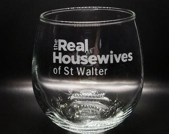CUSTOM Etched Wine glasses| Custom Wine Glasses | Create your own Wine Glass | Personalized Stemless Wine Glass