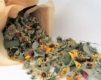 Texas Wildflower Potpourri, Table Scatter, Wedding Confetti, Wild Sunflowers
