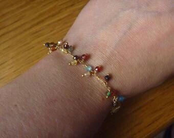 Bracelet multicolored beads