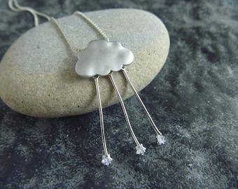 Autumn cloud, stars: necklace