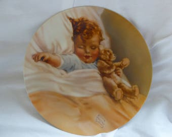 Happy Dreams Collector Plate by Bessie Pease Gutmann COA