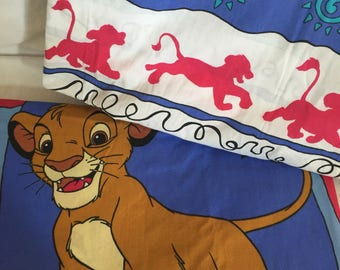 1990's Disney Lion King Twin flat and fitted sheet set