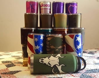 Custom painted yeti, RTIC and ozarktrail  30oz cups. Starting at 50 dollars.  Contact us for pricing.