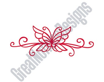Butterfly Scroll SVG - HTV - Vinyl Cutting Graphic Art