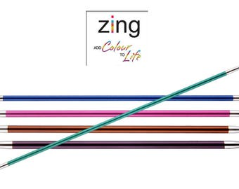 KnitPro Zing Double Pointed Knitting Needles DPNS 20cm (Packs of 5) All Sizes 2mm - 8mm