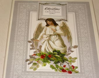 Christmas Greetings Angel Card