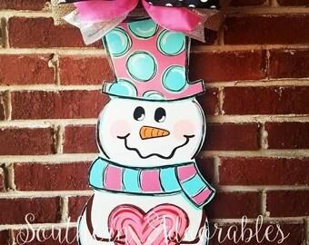 SHIPS NOW* Heart door hanger - Valentine's door hanger - Valentine door sign - Heart sign - Valentine's day