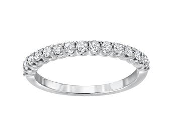 Diamond Wedding Band, 14kt, 0.42ctw diamonds