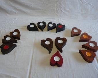 Heart door candles
