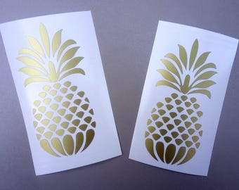 set of 2 Pineapple Vinyl Decal, wall decors, car decals