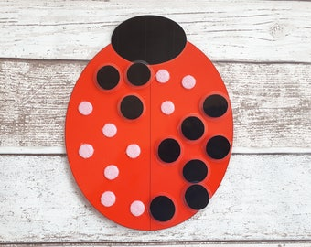 Ladybird numeracy activity, number game, number bonds to 10, numeracy resource, counting activity, early years numeracy, EYFS, SEN, count 10