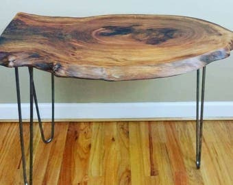 Live edge end table,  live edge side table set, wood side table set, live edge matching end tables, live edge accent tables.