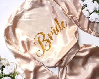 Personalized Bridal Robe Satin Bride robe - Bachelorette party robes - Bridal party robes - Bachelorette gift - Bridal Gowns - Bride Gift