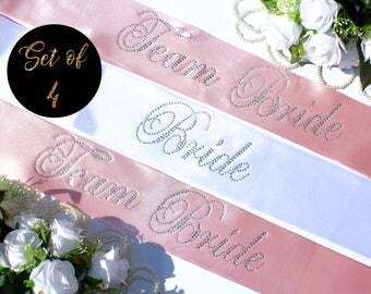 Bridal shower sashes Bride sash Team Bride sash, rhinestone sashes, Bachelorette Bash 2018, Bride tribe sashes, Wedding sashes, Style S