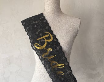 Bachelorette Sash - Completely Customizable Sash - Future Mrs Sash - Bride Sash - Bachelorette Sash - Wedding Sash - Bridal Party Lace Sash