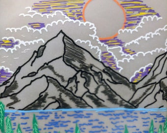 Mountain Illustrtation