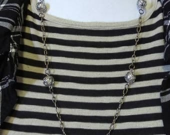Grey Trixie Pixie Necklace