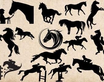 Cheval de SVG, svg cutfile équestre, fichiers svg pour camée en silhouette, cricut Explorer, fichier dxf, SVG, SVG équestre cheval