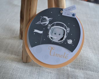 SHARE for baptism or birthday astronaut theme