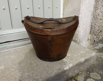 Victorian Leather Hat Box French