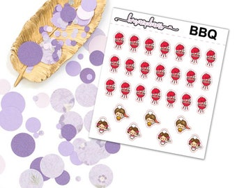 BBQ - Planner Functional Stickers Erin Condren Happy Planner