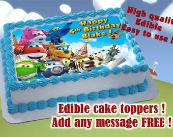 Super Wings Cake Toppers,(Frame) Edible Print. Sugar Sheet Decoration Party  Supplies