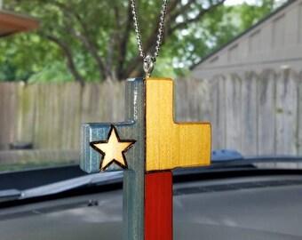 Texas Flag Cross Ornaments