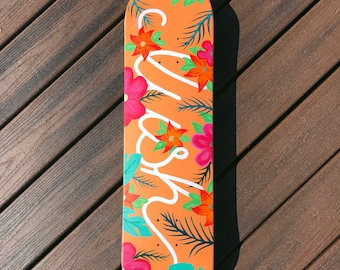 Hand Painted LUSH Skateboard Wall Art
