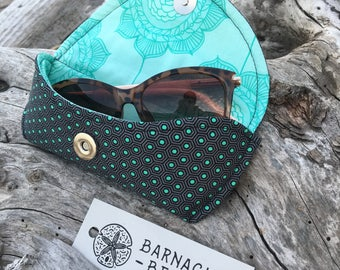 FREE SHIPPING to CANADA! Sunglasses case/cotton sunglass holder/padded sunglasses case/prescription glass case