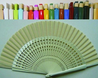 Basic hand held craved Fan in different Colors, directly from Spain!