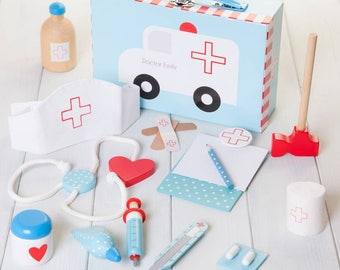 Personalised Childrens Toy Doctor Set