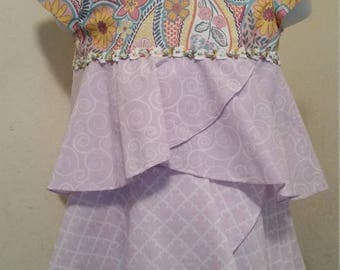 Baby Girl LAVENDER FLOUNCE DRESS