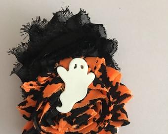 Ghost halloween hair clip