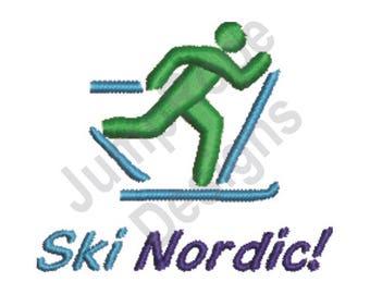 Ski Nordic X-Country - Machine Embroidery Design