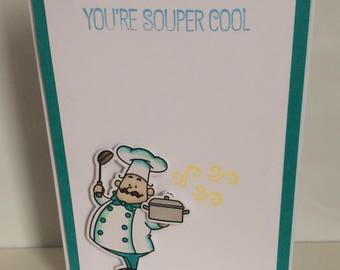 Handmade card - souper cool