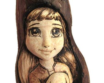 Wood Spirit Carving with Bunny