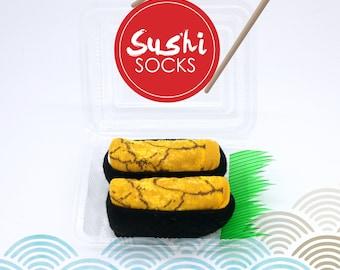 Japanese food sushi socks uni socks for women's funny socks