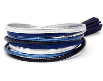 Blue bobble bracelet