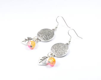 Earrings the orange tree