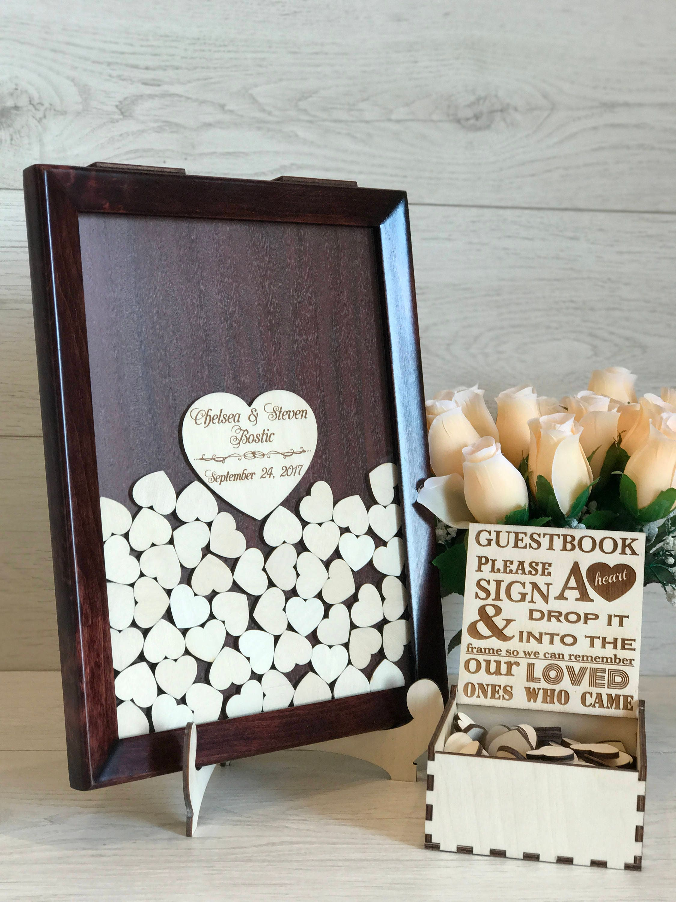 Wedding Guest Book Alternative Wedding Guest Book Drop top guest ...