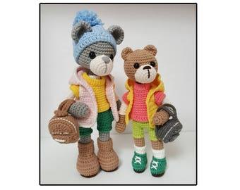 amigurumi cool kid bear