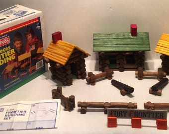 1987 Toys-N-Things 220 Piece Frontier Building Set FREE SHIPPING