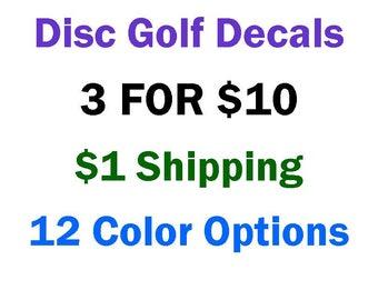 Disc Golf Car Sticker / Car Decal / Bumper Sticker / Truck Decals / Computer Decals / Window Decals