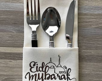 Eid Dinner Napkins Set of 8